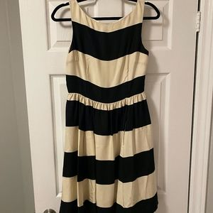 kate spade black and white dress